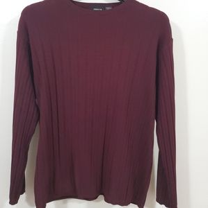 CLAIBORNE Boat Neck Ribbed Sweater